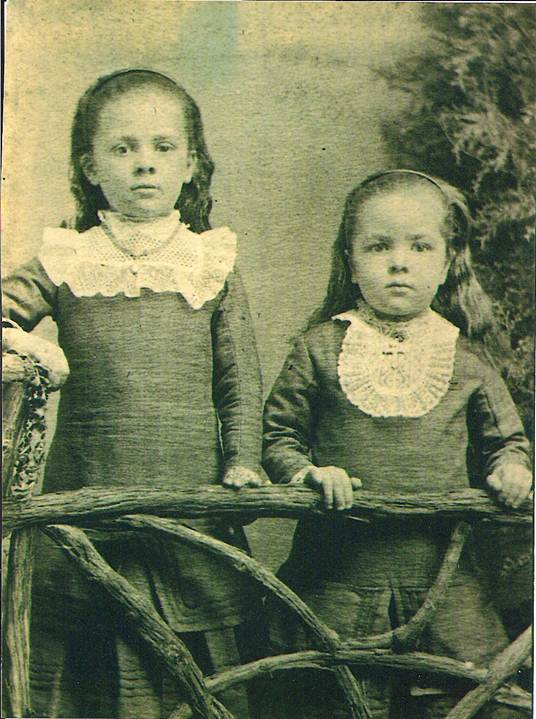 Photo of Mary André, age 7 & Louise André, age 5